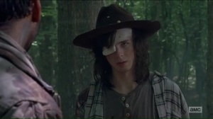 The King, The Widow, and Rick- Carl tells Siddiq that sometimes kids have to go on their own path- The Walking Dead, AMC