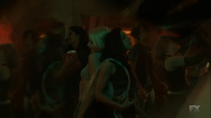 Chapter 17- Lenny parties with blonde woman, played by Vanessa Dubasso- Legion FX Marvel