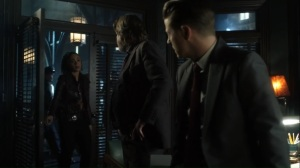 No Man's Land- Harper tells Harvey and Jim that the mayor called again- Gotham Fox DC