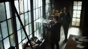 One Bad Day- Jim and Riddler look over the model of the city
