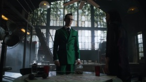 One Bad Day- Riddler and Leslie argue over whether to help Jim