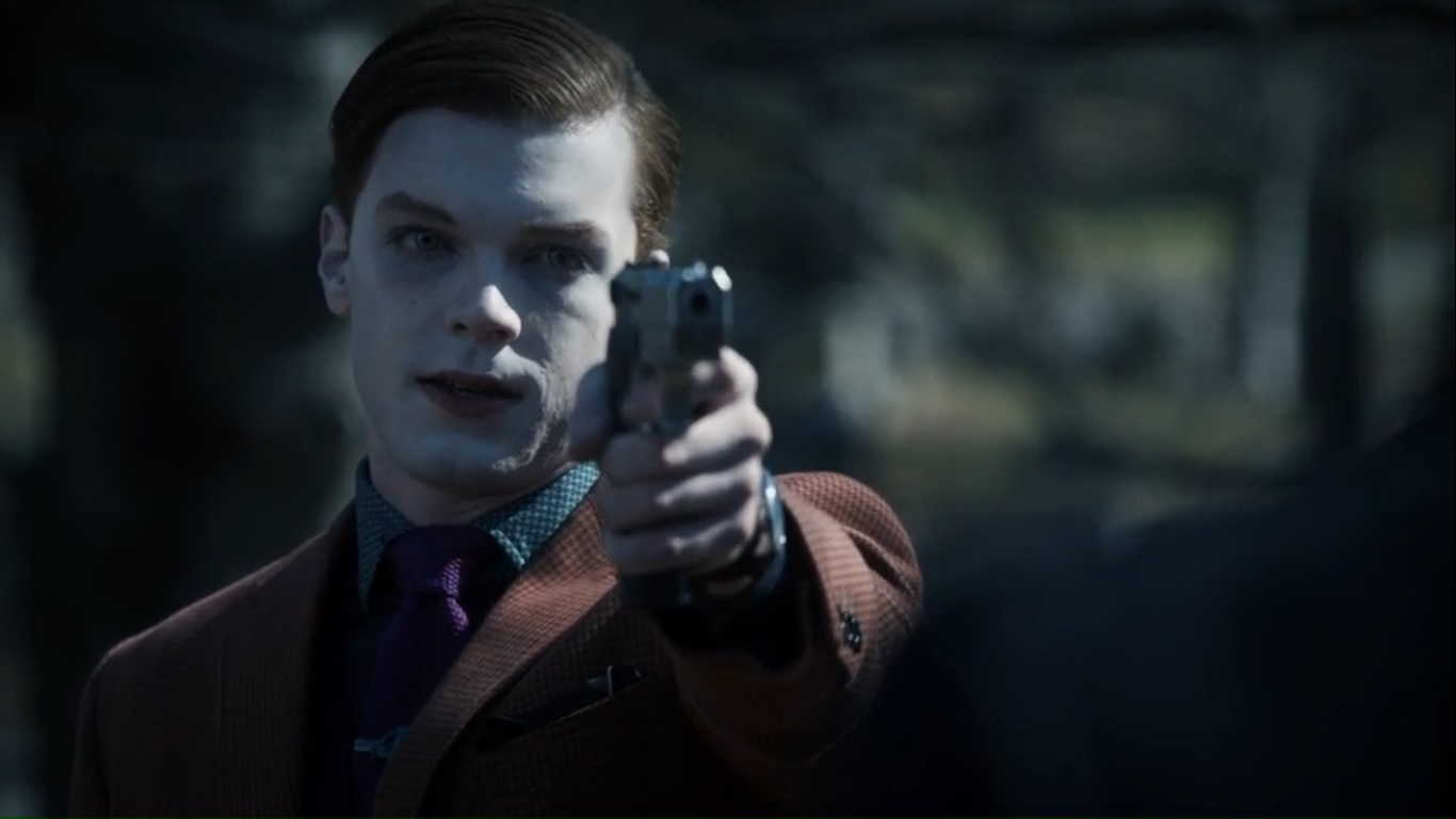 What pistol does Jeremiah Valeska used in the Gotham TV