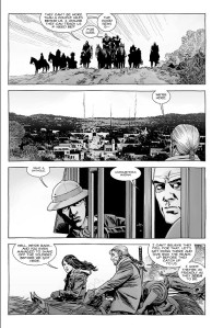 The Walking Dead #179- Eugene and Magna heading on ahead to tell Rick about the visitors