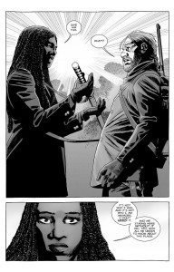 The Walking Dead #179- Michonne gives her sword to Eugene
