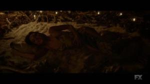 Chapter 18- Lenny on the bear skin rug, surrounded by bones- Legion FX Marvel