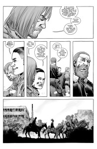 The Walking Dead #182- Dwight says nice things about Laura