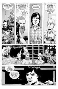 The Walking Dead #182- Pamela tells Maggie that Michonne is with her daughter at the Commonwealth