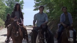 A New Beginning- Alden tells Ken, played by AJ Achinger, about Marcos wanting to learn the trade- The Walking Dead