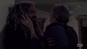 A New Beginning- Carol and Ezekiel about to kiss- The Walking Dead