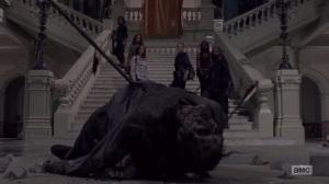 A New Beginning- Daryl kills a walker in an art gallery- The Walking Dead