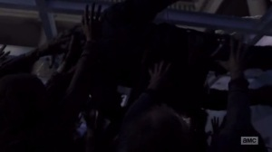 A New Beginning- Ezekiel falls through the glass- The Walking Dead