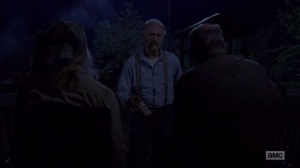 A New Beginning- Gregory delivers a drink to Earl and Tammy- The Walking Dead