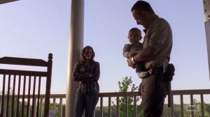 A New Beginning- Maggie watches as Rick holds baby Hershel- The Walking Dead