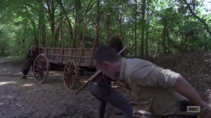 A New Beginning- Pulling the wagon- The Walking Dead