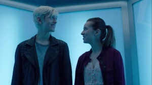 afterMath- Andy and Rebecca on the elevator- The Gifted, Fox, X-Men