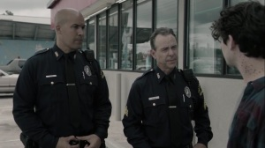 afterMath- Jace and another officer question a mutant- The Gifted, Fox, X-Men