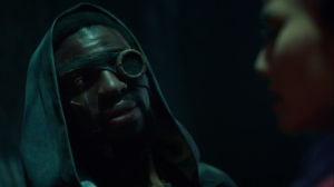 coMplications- Morlock leader Erg, played by Michael Luwoye, speaks with Clarice- The Gifted, Fox, X-Men
