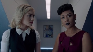 coMplications- Reeva tells the Frost Sisters that their work is bigger than they realize- The Gifted, Fox, X-Men