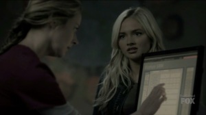 outMatched- Caitlin tells Lauren that Graph is a junkie, just like Wire- The Gifted, Fox, X-Men