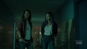 outMatched- Clarice asks John if there may come a time when they have to kill Andy and Lorna- The Gifted, Fox, X-Men