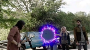outMatched- Clarice creates a portal as she and John prepare to head into the hospital- The Gifted, Fox, X-Men