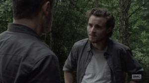 The Bridge- Alden talks with Rick about the Saviors- AMC, The Walking Dead