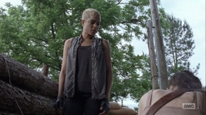 The Bridge- Arat and Rosita about to set off some explosives- AMC, The Walking Dead