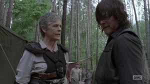 The Bridge- Carol stops Daryl from continuing to beat Justin- AMC, The Walking Dead