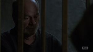 The Bridge- Earl tells Maggie about his past drinking problems- AMC, The Walking Dead