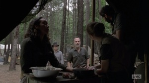 The Bridge- Enid patches up Cyndie as Rick tells Siddiq to head back to Alexandria- AMC, The Walking Dead