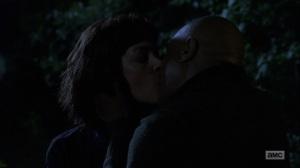 The Bridge- Jadis and Gabriel kiss- AMC, The Walking Dead