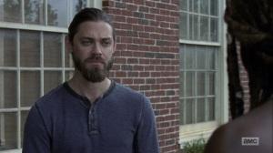 The Bridge- Jesus speaks with Michonne about Maggie- AMC, The Walking Dead