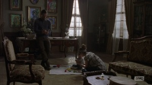 The Bridge- Jesus talks with Maggie about Earl and Tammy- AMC, The Walking Dead