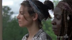 The Bridge- Maggie and Michonne discuss common laws- AMC, The Walking Dead
