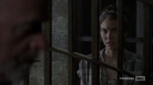 The Bridge- Maggie speaks with Earl- AMC, The Walking Dead