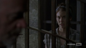 The Bridge- Maggie speaks with Earl- AMC, The Walking Dead