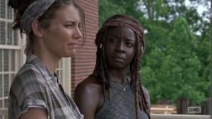 The Bridge- Maggie tells Michonne that Earl still owes a debt- AMC, The Walking Dead