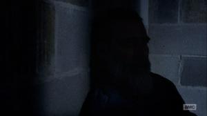The Bridge- Negan in the shadows- AMC, The Walking Dead