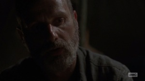 The Bridge- Rick acknowledges that he's been pushing people hard- AMC, The Walking Dead
