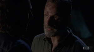 The Bridge- Rick chews out Justin- AMC, The Walking Dead