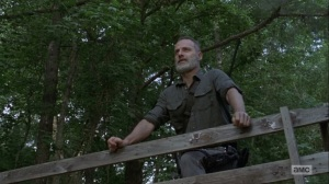 The Bridge- Rick talks about making a new beginning- AMC, The Walking Dead