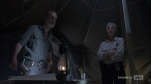 The Bridge- Rick tells Daryl to let the fight with Justin go for a moment- AMC, The Walking Dead