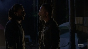 The Bridge- Rick tells Justin to leave the camp- AMC, The Walking Dead