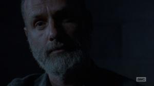 The Bridge- Rick tells Negan that the world is thriving- AMC, The Walking Dead