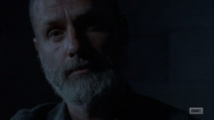 The Bridge- Rick tells Negan that the world is thriving- AMC, The Walking Dead