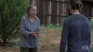 The Bridge- Tammy pleads with Jesus to see Earl- AMC, The Walking Dead