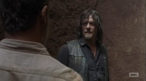 The Obliged- Daryl reminds Rick what Dwight did to him- AMC, The Walking Dead
