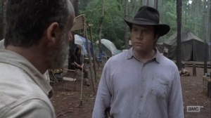 The Obliged- Eugene updates Rick on the bridge- AMC, The Walking Dead