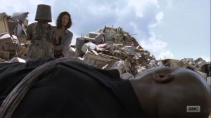The Obliged- Jadis about to unleash her walker on Gabriel- AMC, The Walking Dead