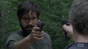 The Obliged- Jed faces off with Carol- AMC, The Walking Dead